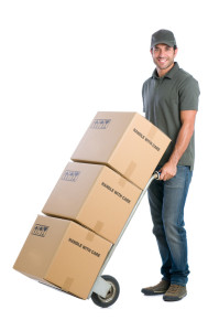 Courier moving boxes