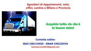 Sgomberi gratis Milano